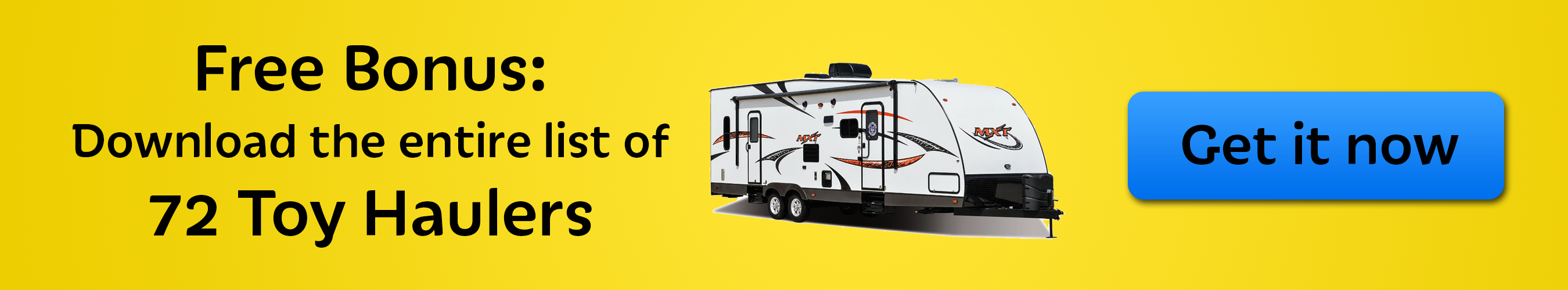 toy hauler travel trailers - list of models
