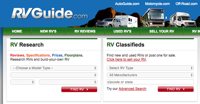 RVguide - travel trailer consumer reviews
